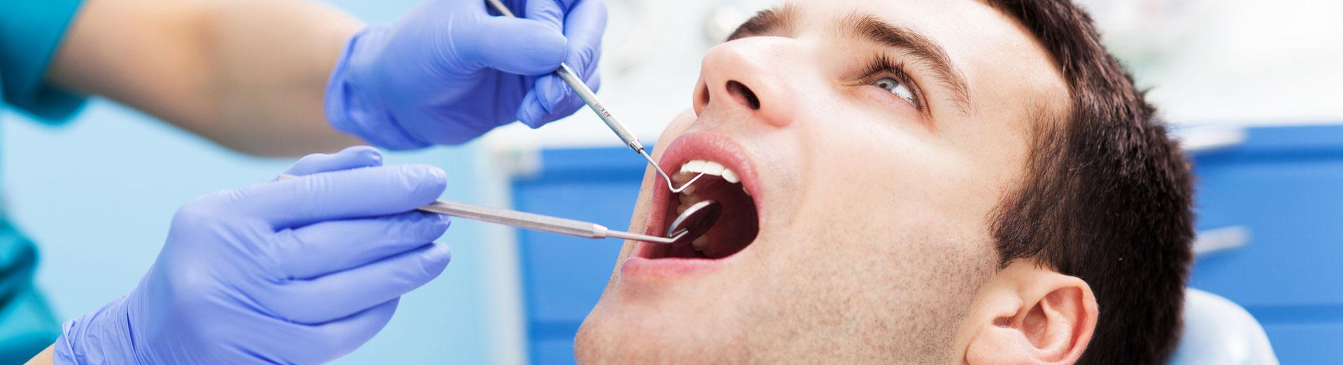 Man at dental clinic