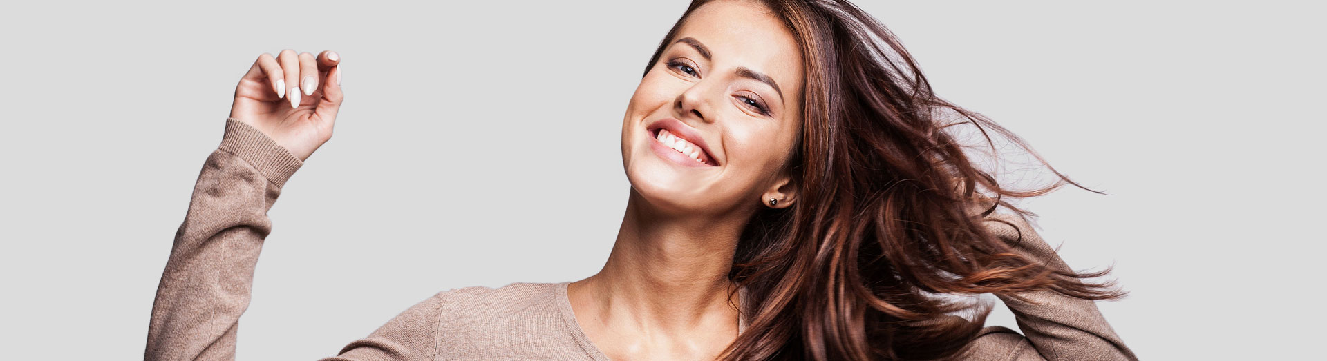 Attractive woman with beautiful smile